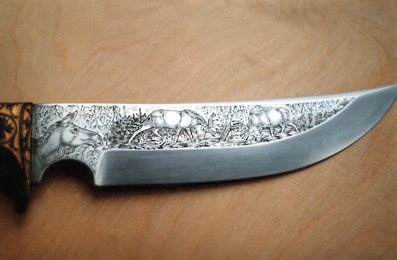 Ножи с узорами 74