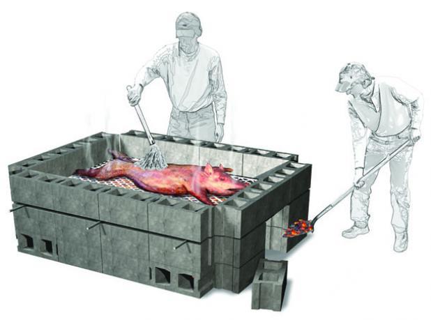 Как приготовить кабана целиком запеченого - дикий кабан запеченый целиком