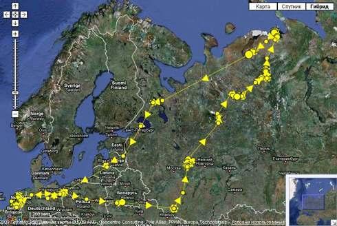Карты миграции перелетного гуся
