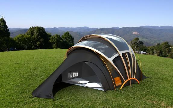 палатка на солнечной энергии
