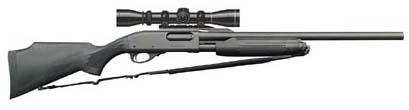 Ремингтон 870 Express Magnum с установленным оптическим прицелом