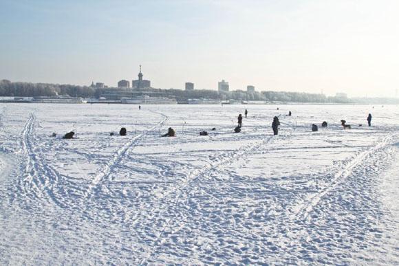Подледная рыбалка на Химкинском водохранилище - клуб Вымпел - фото Андрей Шалыгин