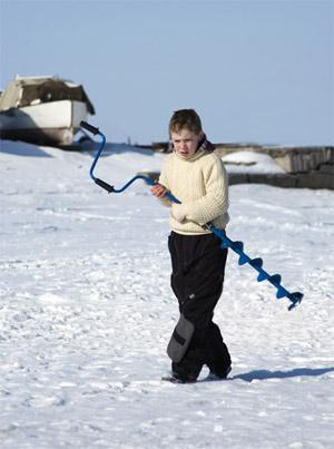 Зимняя рыбалка, ледобур
