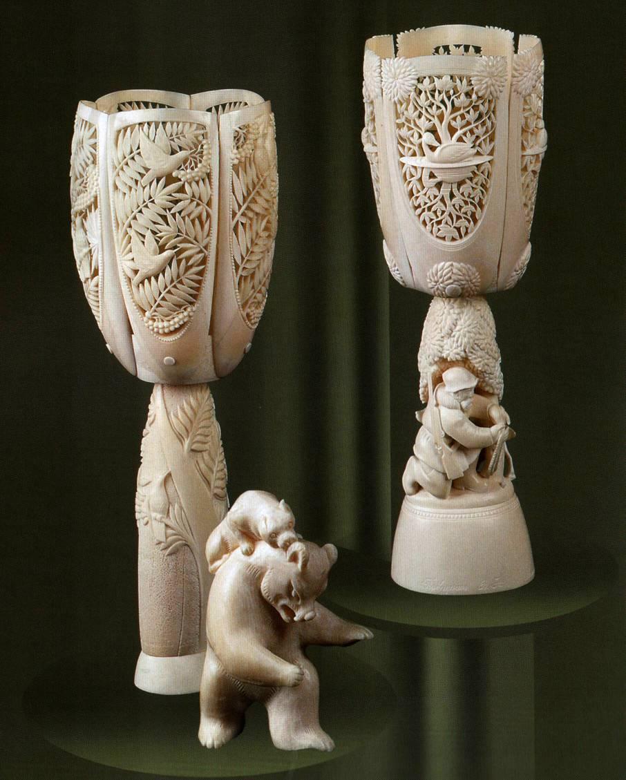 Холмогорская художественная резьба по кости