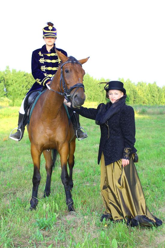 Костюмированные конные русские охоты