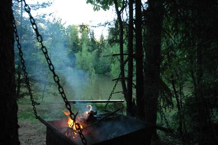Долголуговское - мангал на берегу озера
