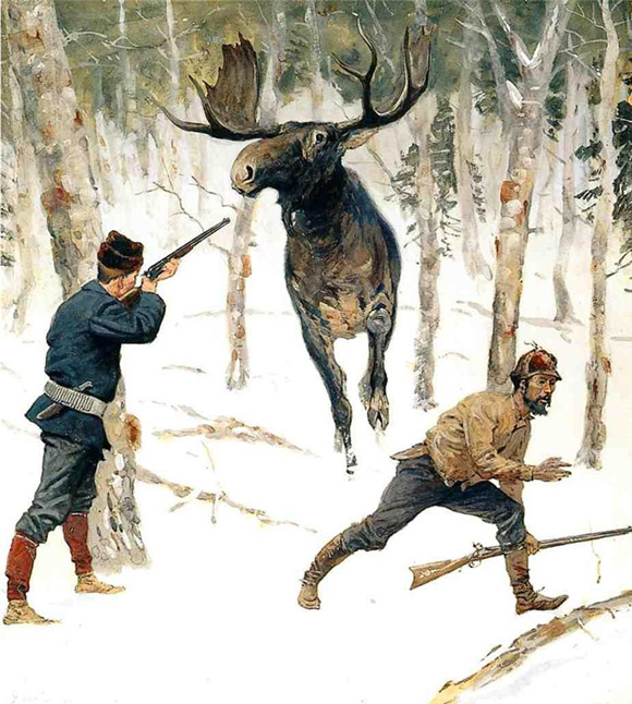 охота на лося. фото