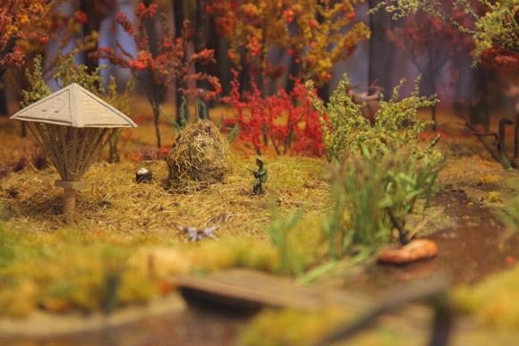 Музей охоты и рыболовства, макет охотничьего хозяйства