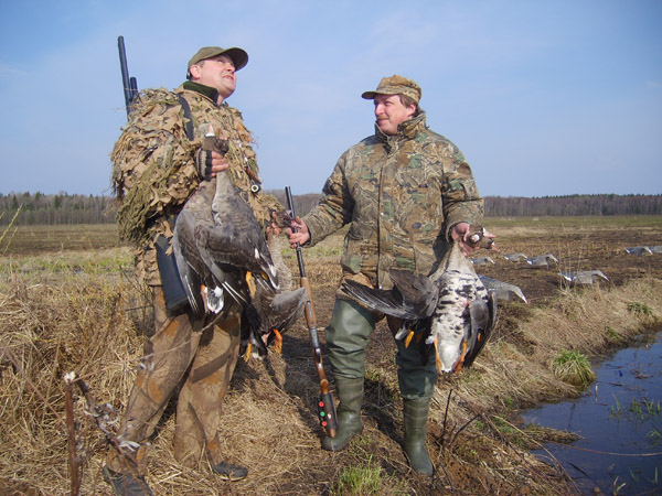 охота на гуся на базе Дворянское гнездо