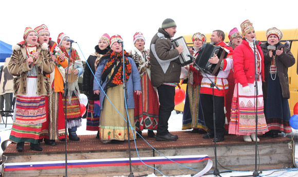 День Святого Трифона, 14 февраля, выступление артистов и фольклорных коллективов