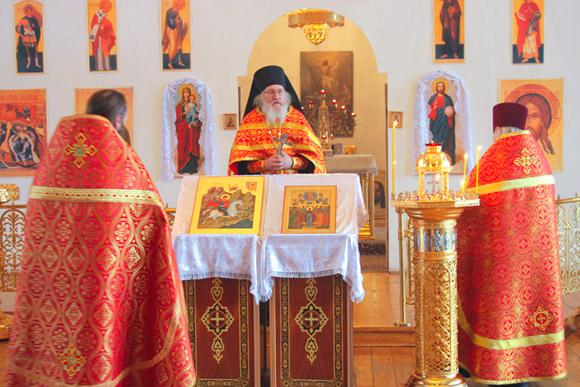 День Святого Трифона, 14 февраля, торжественое богослужение